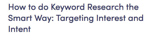 SEO Keyword research the smart way