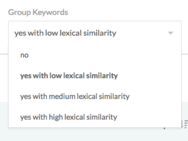 Moz group keywords feature