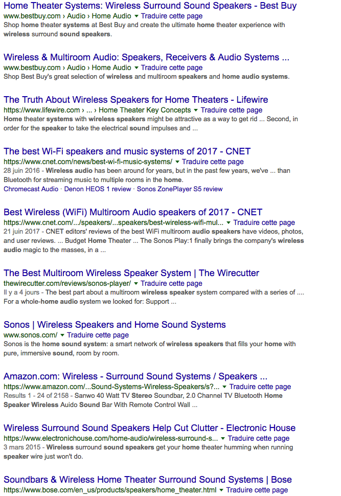 SEO guide Use a title or headline